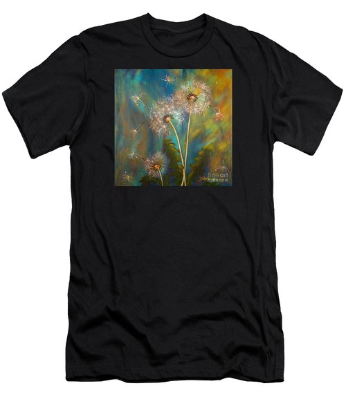 Dandelion Wishes Men's T-Shirt (Slim Fit) by Deborha Kerr