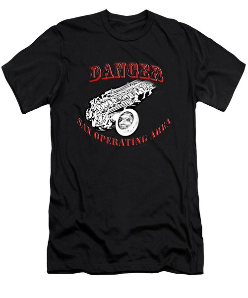 Danger Sax Operating Area Men's T-Shirt (Athletic Fit)