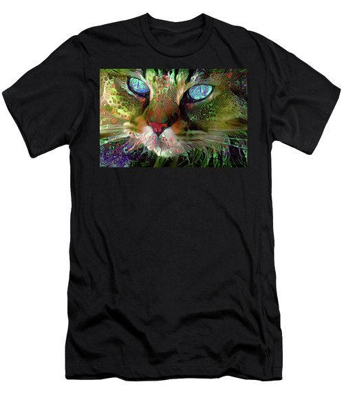 Darby The Long Haired Cat Men's T-Shirt (Athletic Fit)