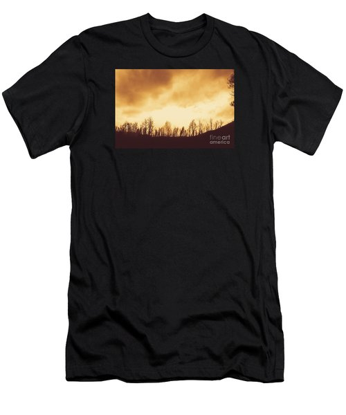 Men's T-Shirt (Athletic Fit) featuring the photograph Dark Afternoon Woodland by Jorgo Photography - Wall Art Gallery
