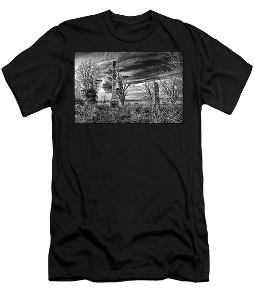 Men's T-Shirt (Slim Fit) featuring the photograph Dark Days by Brian Wallace
