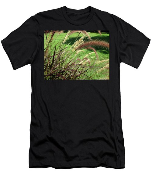 Dark Feather Grass Men's T-Shirt (Athletic Fit)