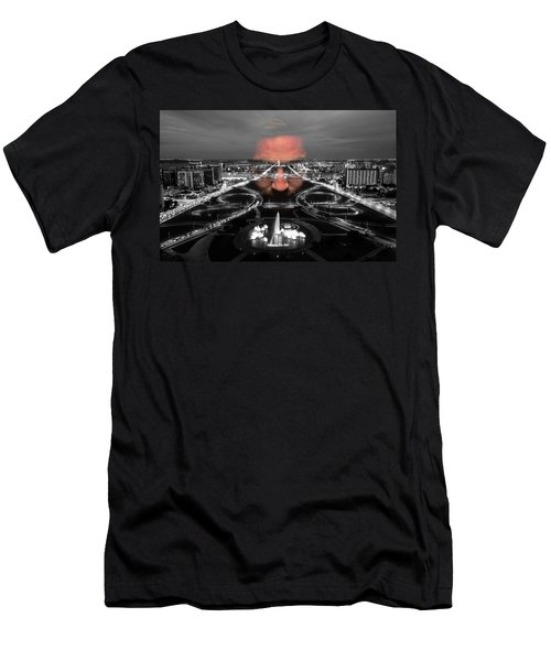 Dark Forces Controlling The City Men's T-Shirt (Slim Fit) by ISAW Gallery