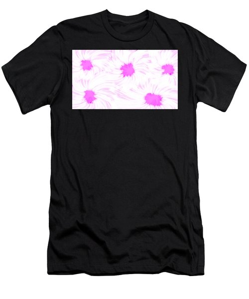 'dark Pink And White Flower Abstract' Men's T-Shirt (Athletic Fit)
