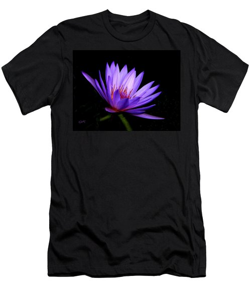Dark Side Of The Purple Water Lily Men's T-Shirt (Athletic Fit)