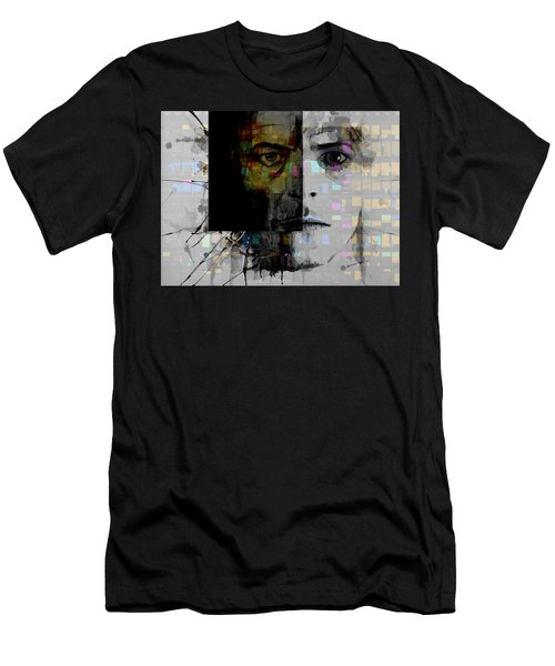 Men's T-Shirt (Slim Fit) featuring the painting Dark Star by Paul Lovering