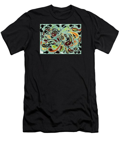 Dark Star Swims Among The Fishes Men's T-Shirt (Athletic Fit)