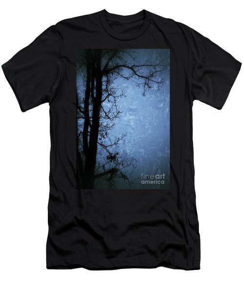 Dark Tree Silhouette  Men's T-Shirt (Slim Fit) by Jason Nicholas