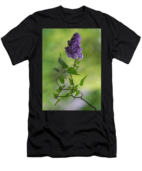 Men's T-Shirt (Athletic Fit) featuring the photograph Dark Violet Lilac by Jaroslaw Blaminsky