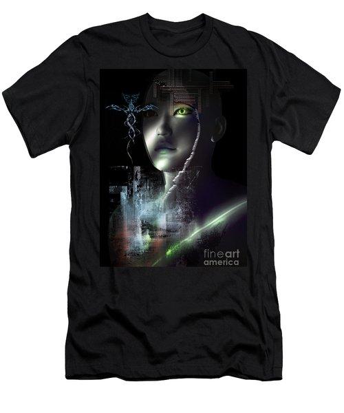 Men's T-Shirt (Slim Fit) featuring the digital art Dark Visions by Shadowlea Is
