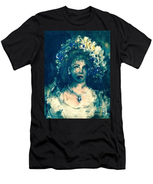 Men's T-Shirt (Athletic Fit) featuring the photograph Darling Blue by Laurie Lundquist