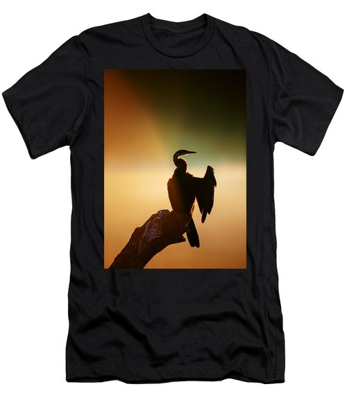 Darter Bird With Misty Sunrise Men's T-Shirt (Athletic Fit)