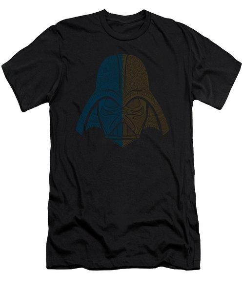 Darth Vader - Star Wars Art - Blue Brown Men's T-Shirt (Athletic Fit)