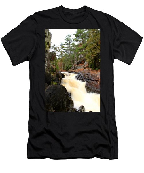 Men's T-Shirt (Slim Fit) featuring the photograph Dave's Falls #7277 by Mark J Seefeldt