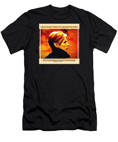 David Bowie Men's T-Shirt (Slim Fit) by Laura Michelle Corbin
