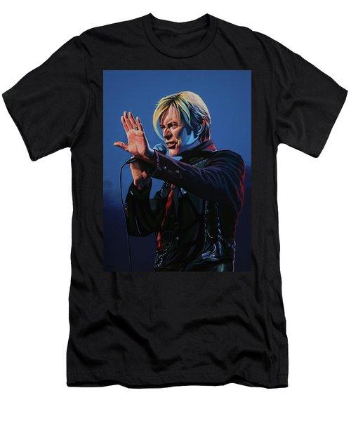 David Bowie Live Painting Men's T-Shirt (Athletic Fit)