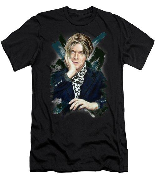 David Bowie Men's T-Shirt (Slim Fit) by Melanie D