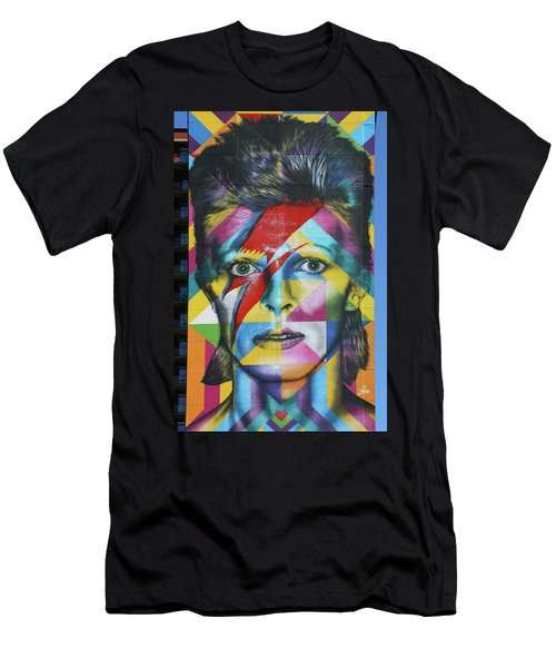 David Bowie Mural # 3 Men's T-Shirt (Athletic Fit)