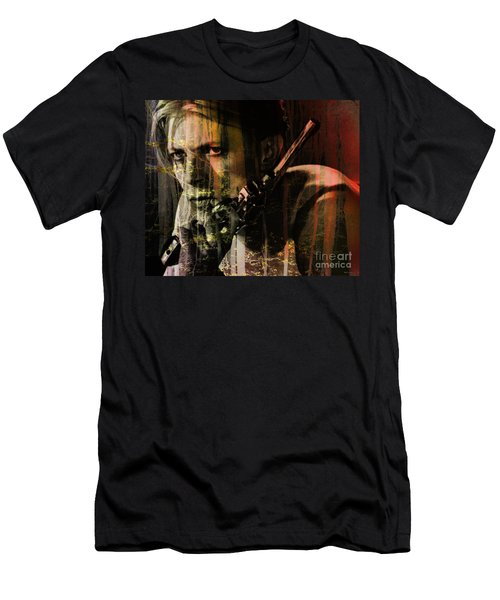 David Bowie / The Man Who Fell To Earth  Men's T-Shirt (Athletic Fit)