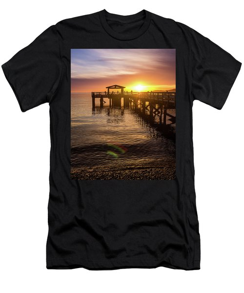 Davis Bay Pier Sunset 4 Men's T-Shirt (Athletic Fit)