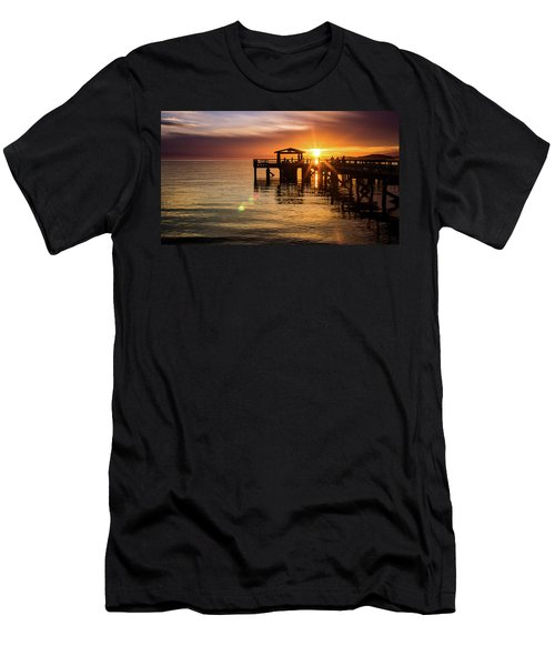 Davis Bay Pier Sunset 5 Men's T-Shirt (Athletic Fit)