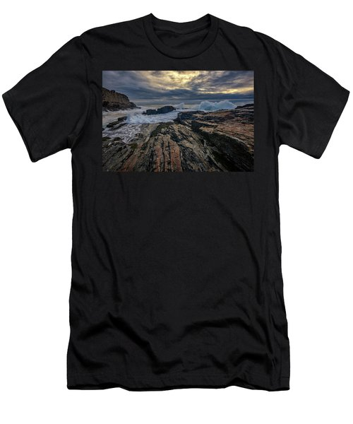 Men's T-Shirt (Slim Fit) featuring the photograph Dawn At Bald Head Cliff by Rick Berk