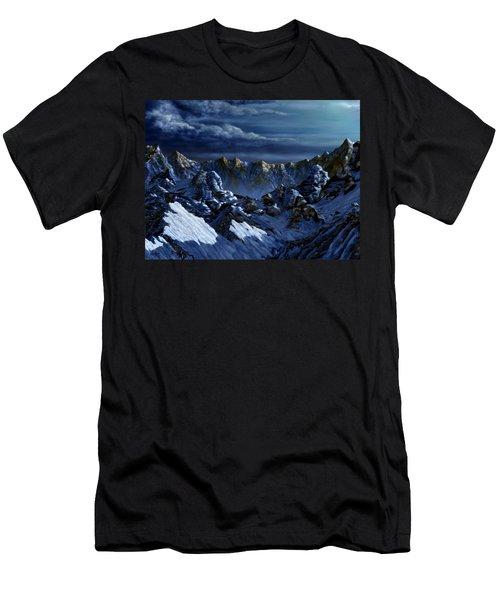 Men's T-Shirt (Slim Fit) featuring the digital art Dawn At Eagle's Peak by Curtiss Shaffer