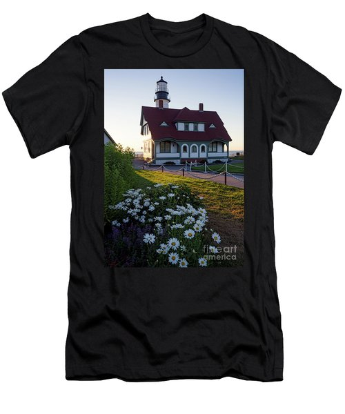 Dawn At Portland Head Light, Cape Elizabeth, Maine  -08614 Men's T-Shirt (Athletic Fit)