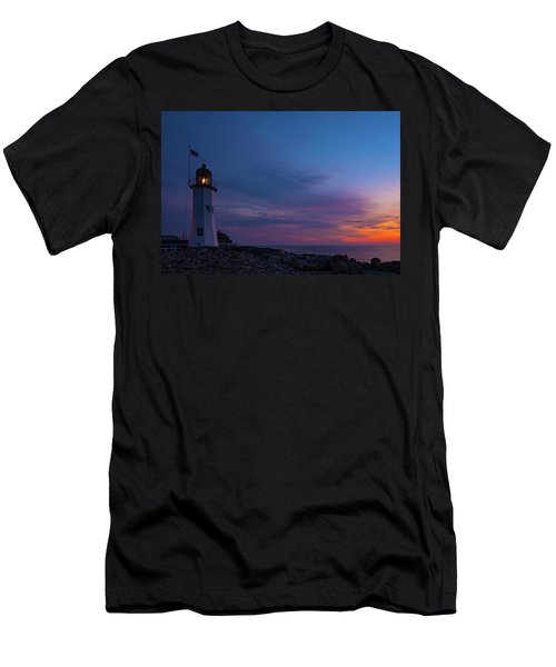 Dawn At Scituate Light Men's T-Shirt (Athletic Fit)