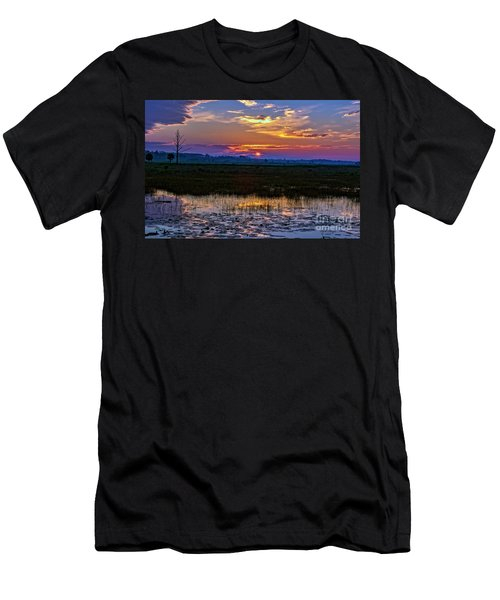 Dawn Breaking Over Saint Marks Men's T-Shirt (Athletic Fit)