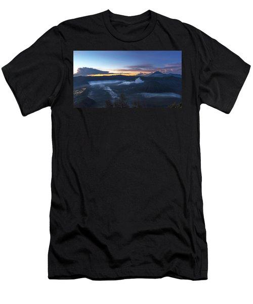 Dawn Breaking Scene Of Mt Bromo Men's T-Shirt (Athletic Fit)