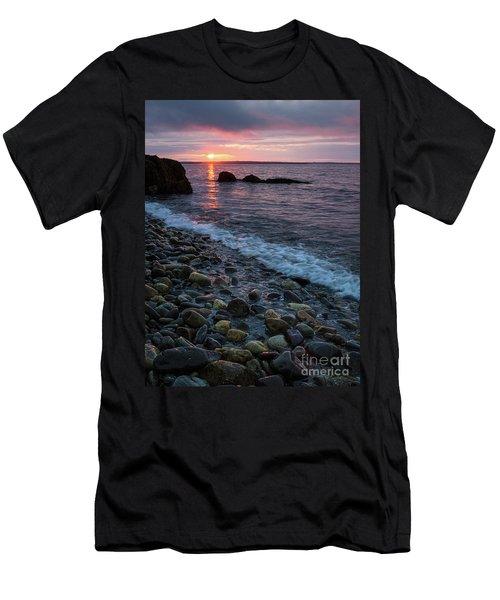 Dawn, Camden, Maine  -18868-18869 Men's T-Shirt (Slim Fit) by John Bald