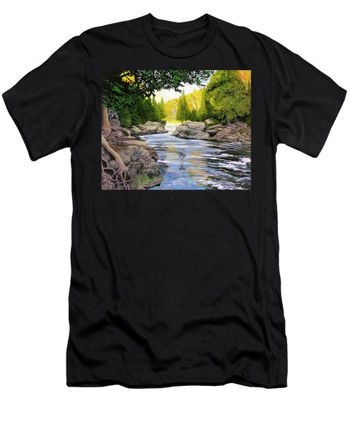 Dawn On The River Men's T-Shirt (Athletic Fit)