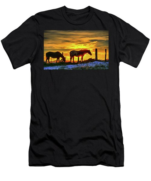 Dawn Horses Men's T-Shirt (Athletic Fit)