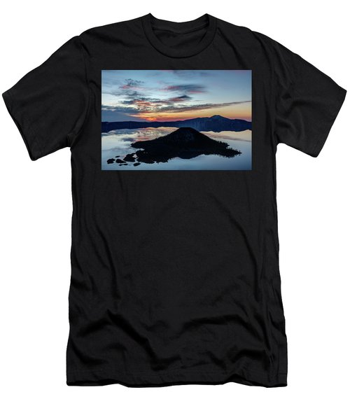 Men's T-Shirt (Slim Fit) featuring the photograph Dawn Inside The Crater by Pierre Leclerc Photography