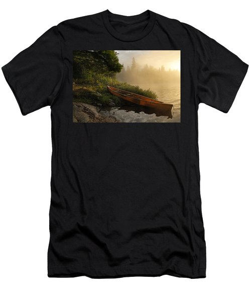 Dawn On Boot Lake Men's T-Shirt (Slim Fit) by Larry Ricker