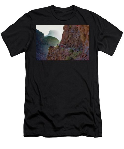 Dawn On Bright Angel Trail Men's T-Shirt (Athletic Fit)