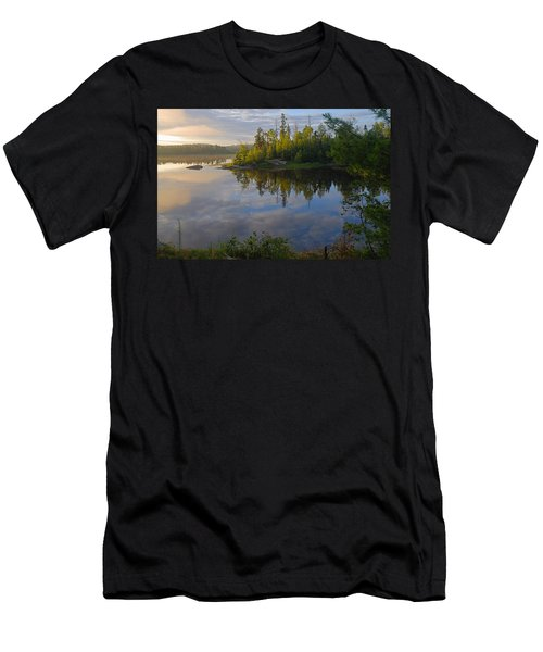 Dawn On The Basswood River Men's T-Shirt (Athletic Fit)