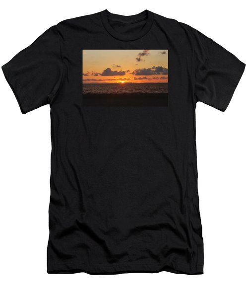Men's T-Shirt (Slim Fit) featuring the photograph Dawn's Cloud Layers by Robert Banach
