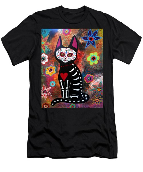 Day Of The Dead Cat El Gato Men's T-Shirt (Athletic Fit)
