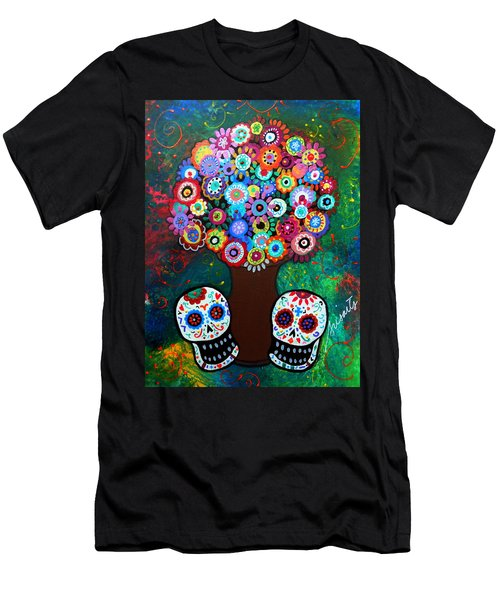 Day Of The Dead Love Offering Men's T-Shirt (Athletic Fit)