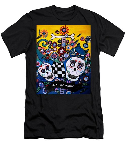 Men's T-Shirt (Slim Fit) featuring the painting Day Of The Dead by Pristine Cartera Turkus