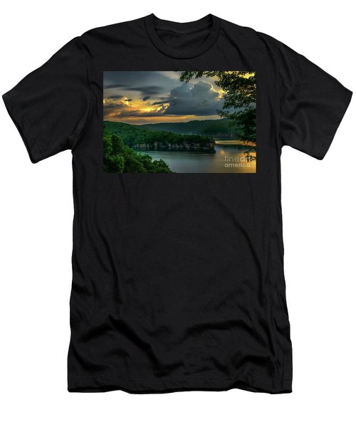 Daybreak Over Long Point Men's T-Shirt (Athletic Fit)