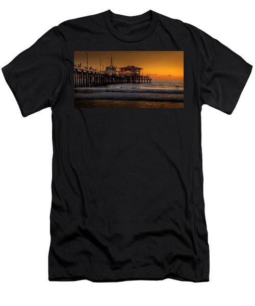 Daylight Turns Golden On The Pier Men's T-Shirt (Athletic Fit)