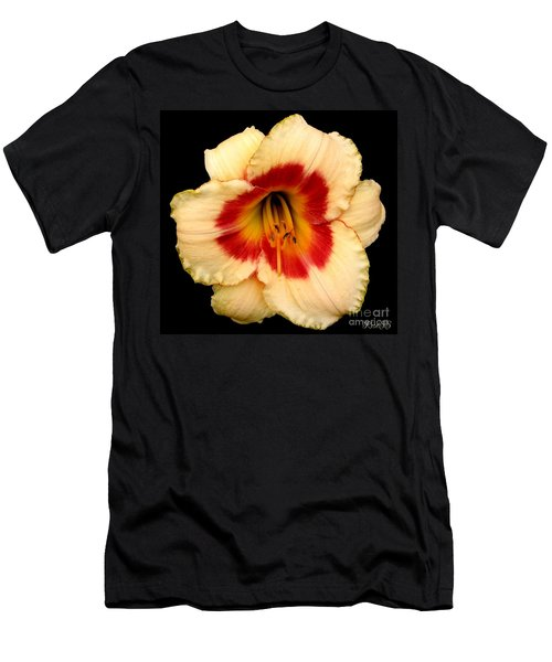 Daylily 3 Men's T-Shirt (Slim Fit) by Rose Santuci-Sofranko