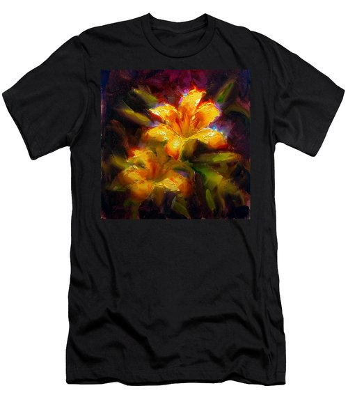 Daylily Sunshine - Colorful Tiger Lily/orange Day-lily Floral Still Life  Men's T-Shirt (Athletic Fit)