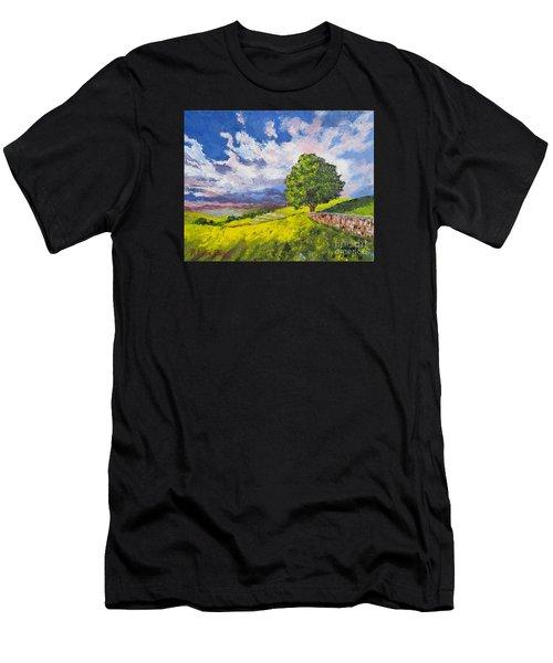 Dazzling Sky Pallet Knife Men's T-Shirt (Athletic Fit)