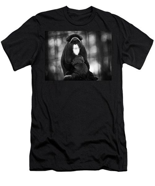 De Brazza's Monkey Men's T-Shirt (Athletic Fit)