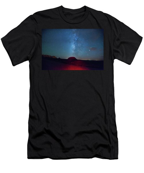 De Na Zin Milky Way Men's T-Shirt (Athletic Fit)