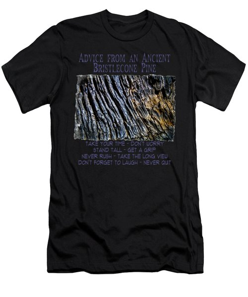 Dead Ancient Bristlecone Pine Trunk Detail Men's T-Shirt (Athletic Fit)